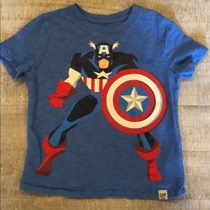 Gap Marvel Captain America Shirt Size 3